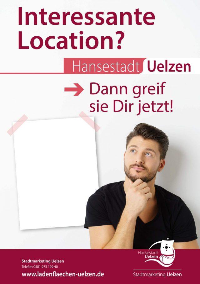 Plakat Ladenflächen Uelzen - Greif' sie dir jetzt! (c) Stadtmarketing Uelzen